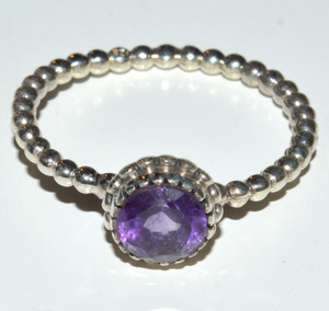 Natural Amethyst 925 Sterling Silver Ring Jewelry s.9 JB14829