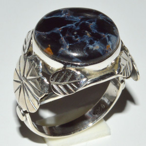 Pietersite - Namibia 925 Sterling Silver Ring Jewelry s.8.5 JB14557