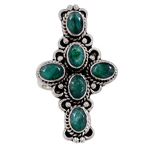 Emerald 925 Sterling Silver Ring Jewelry s.7 33354R