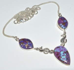 Seahorse - Purple Turquoise 925 Sterling Silver Necklace Jewelry JB14357