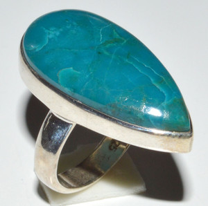 Chrysocolla  925 Sterling Silver Ring Jewelry s.5.5 JB14387