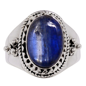 Kyanite - Brazil 925 Sterling Silver Ring Jewelry s.8 33245R