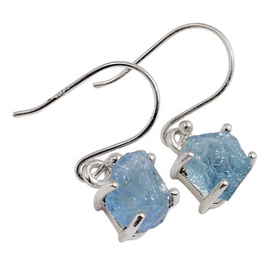 Aquamarine Rough 925 Sterling Silver Earrings Jewelry 33158E