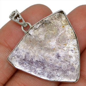 Flashy Lepidolite Mica 925 Sterling Silver Pendant Jewelry AP95131