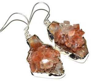 Aragonite Star Crystal 925 Sterling Silver Earrings Jewelry JB15018