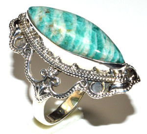 Russian Amazonite 925 Sterling Silver Ring Jewelry s.5.5 JB15576