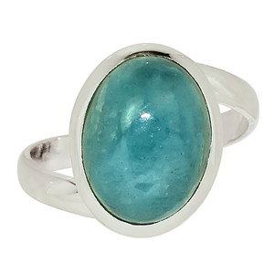 Aquamarine - Brazil 925 Sterling Silver Ring Jewelry s.9 33523R
