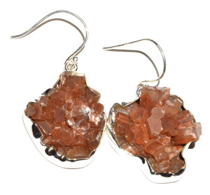 Aragonite Star Crystal 925 Sterling Silver Earrings Jewelry JB15115