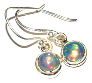 Ethiopian Opal 925 Sterling Silver Earrings Jewelry JB14894