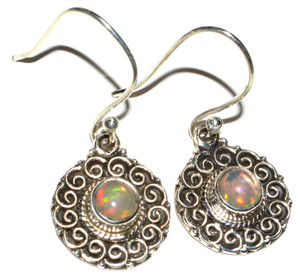 Ethiopian Opal 925 Sterling Silver Earrings Jewelry JB14987
