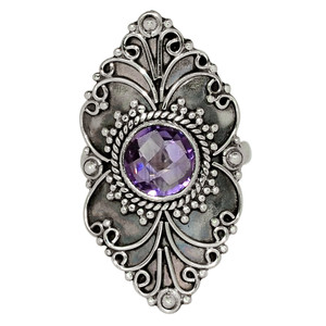 Amethyst - Africa 925 Sterling Silver Ring Jewelry s.6.5 33532R