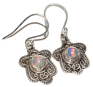 Ethiopian Opal 925 Sterling Silver Earrings Jewelry JB15173