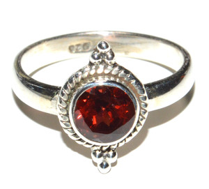Natural Garnet 925 Sterling Silver Ring Jewelry s.6.5 JB15710