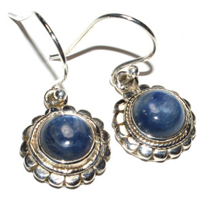 Blue Kyanite 925 Sterling Silver Earrings Jewelry JB15186