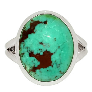 Tibetan Turquoise 925 Sterling Silver Ring Jewelry s.11.5 33554R