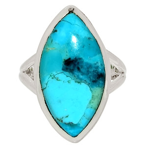 Blue Mohave Turquoise, Arizona 925 Sterling Silver Ring Jewelry s.7.5 33610R