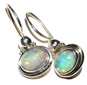 Ethiopian Opal 925 Sterling Silver Earrings Jewelry JB15164