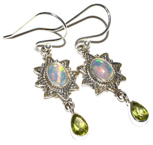 Ethiopian Opal 925 Sterling Silver Earrings Jewelry JB14978