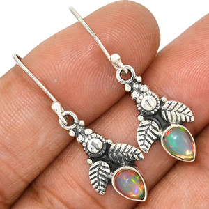 Ethiopian Opal 925 Sterling Silver Earrings Jewelry AE74703 88X