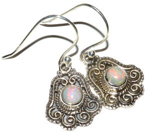 Ethiopian Opal 925 Sterling Silver Earrings Jewelry JB14991