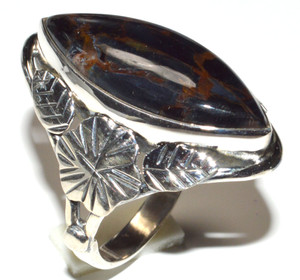 Pietersite - Namibia 925 Sterling Silver Ring Jewelry s.8.5 JB15510