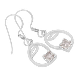 Crystal 925 Sterling Silver Earrings Jewelry E2137WT