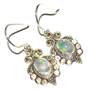 Ethiopian Opal 925 Sterling Silver Earrings Jewelry JB14884