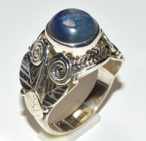 Blue Kyanite 925 Sterling Silver Ring Jewelry s.8  JB15883