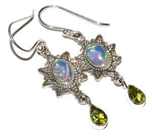 Ethiopian Opal 925 Sterling Silver Earrings Jewelry JB14995