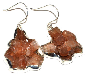 Aragonite Star Crystal 925 Sterling Silver Earrings Jewelry JB15199