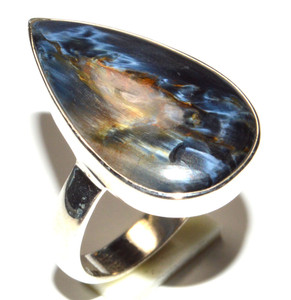 Natural Pietersite 925 Sterling Silver Ring Jewelry s.6.5  JB15858