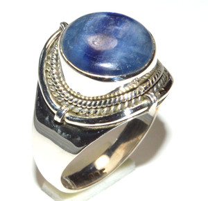 Blue Kyanite 925 Sterling Silver Ring Jewelry s.8 JB15626