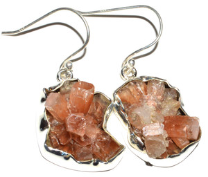 Aragonite Star Crystal 925 Sterling Silver Earrings Jewelry JB14954