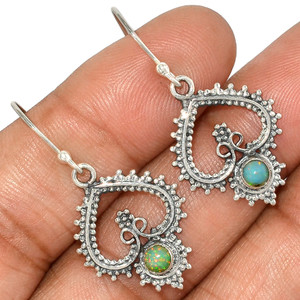 Ethiopian Opal 925 Sterling Silver Earrings Jewelry AE81020 11F