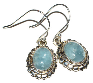 Aquamarine 925 Sterling Silver Earrings Jewelry JB14891