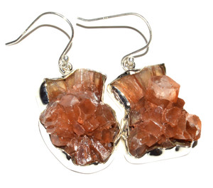 Aragonite Star Crystal 925 Sterling Silver Earrings Jewelry JB15114