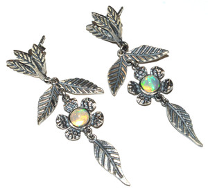 Ethiopian Opal 925 Sterling Silver Earrings Jewelry JB14976