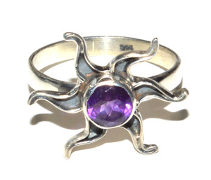 Natural Amethyst 925 Sterling Silver Ring Jewelry s.6 JB15646