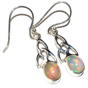 Ethiopian Opal 925 Sterling Silver Earrings Jewelry JB15165