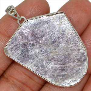 Flashy Lepidolite Mica 925 Sterling Silver Pendant Jewelry AP95096