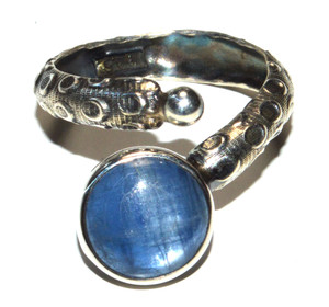 Amazing Blue Kyanite 925 Sterling Silver Ring Jewelry s. JB15647