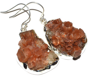 Aragonite Star Crystal 925 Sterling Silver Earrings Jewelry JB14953