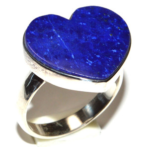 Heart Lapis 925 Sterling Silver Ring Jewelry s.6 JB15538
