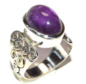 Natural Amethyst 925 Sterling Silver Ring Jewelry s.9 JB15537
