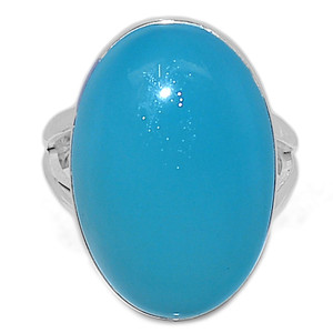 Paraiba Chalcedony 925 Sterling Silver Ring Jewelry s.8 PCDR158