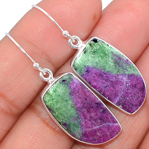 Ruby Zoisite 925 Sterling Silver Earrings Jewelry RBZE70
