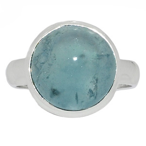 Aquamarine 925 Sterling Silver Ring Jewelry s.6.5 AQMR856