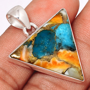 Spiny Oyster Arizona Turquoise 925 Sterling Silver Pendant  Jewelry SOTP679
