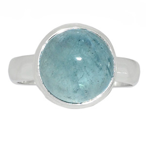 Aquamarine - March Birthstone 925 Sterling Silver Ring Jewelry s.7 AQMR853