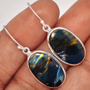 Pietersite Cab 925 Sterling Silver Earrings Jewelry PTCE540